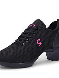abordables -Femme Baskets de Danse Maille Basket Talon épais Chaussures de danse Blanc / Noir / Rouge claire