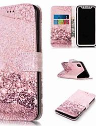 baratos -Capinha Para Apple iPhone XR / iPhone XS Max Carteira / Porta-Cartão / Com Suporte Capa Proteção Completa Mármore Rígida PU Leather para iPhone XS / iPhone XR / iPhone XS Max