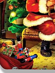 Недорогие -Рождественская пуховая одеяла устанавливает геометрический полистирол реактивной печати 3 шт. / 3шт (1 пододеяльник, 2 штыря)