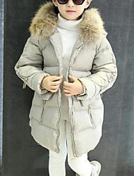 Недорогие -Дети Девочки Пэчворк Длинный рукав На пуховой / хлопковой подкладке