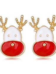 Недорогие -Жен. 3D Серьги-гвоздики - Elk Классика, Мода Цвет радуги Назначение Рождество Новый год
