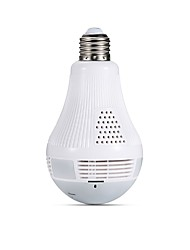 billiga -jooan® lampa lampa trådlös ip kamera wifi 960p panoramautsikt fisheye hem säkerhet cctv kamera 360 graders natt vision stöd 128gb