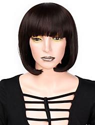 abordables -Extentions synthétiques Femme Droit Noir Coupe Dégradée Cheveux Synthétiques 12 pouce Homme / Naturel Noir / Blanc Perruque Court Sans bonnet Blond de fraise Blond platine Noir