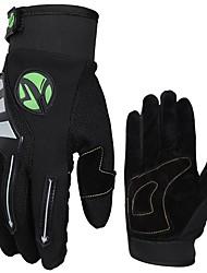 Недорогие -Спортивные перчатки Перчатки для велосипедистов / Перчатки для сенсорного экрана Дышащий / Пригодно для носки / Нескользящий Полный палец Хлопковые волокна Велосипедный спорт / Велоспорт Муж. / Жен.