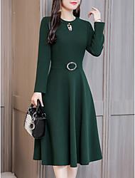 baratos -slim um vestido de linha feminino midi