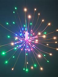 billiga -HKV 0,2 Ljusslingor 120 lysdioder SMD 0603 1 13Kör fjärrkontrollen Varmvit / RGB + Warm Vattentät / Party / Dekorativ AA Batterier Drivs 1set