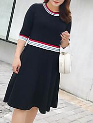 Недорогие -женщин плюс размер хлопка майка платье midi