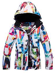 abordables -ARCTIC QUEEN Femme Hoodie Jacket / Veste de Ski Pare-vent, Chaud, Cap détachable Ski / Snowboard / Sports d'hiver Polyester, Ecologique Polyester Survêtement / Coupe-vent / Haut Chaud Tenue de Ski