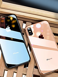 abordables -Coque Pour Apple iPhone 8 / iPhone XS Max Plaqué / Ultrafine / Translucide Coque Couleur Pleine Flexible TPU pour iPhone XS / iPhone XR / iPhone XS Max