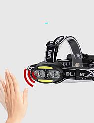 Недорогие -2504-B Налобные фонари Фары для велосипеда Светодиодная лампа LED 800 lm 5 Режим освещения Водонепроницаемый, Регулируется, Прочный Походы / туризм / спелеология, Охота Черный