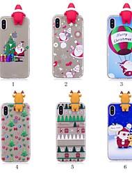 billiga -fodral Till Apple iPhone X / iPhone 8 Plus Mönster / GDS (Gör det själv) Skal Jul Mjukt TPU för iPhone X / iPhone 8 Plus / iPhone 8