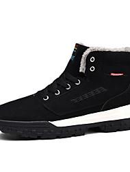 Недорогие -Муж. Комфортная обувь Замша Зима На каждый день Ботинки Сохраняет тепло Черный / Синий
