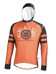 Недорогие -ILPALADINO Муж. Длинный рукав Велокофты - Оранжевый Мода Велоспорт Верхняя часть, Ультрафиолетовая устойчивость, Зима, Эластан