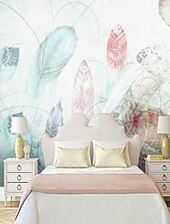 baratos -papel de parede / Mural Tela de pintura Revestimento de paredes - adesivo necessário Pintura / Art Deco / Azulejo
