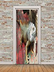 Недорогие -Дверные наклейки - 3D наклейки Животные / 3D В помещении / На открытом воздухе