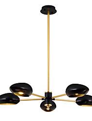 Недорогие -ZHISHU 5-Light Спутник Люстры и лампы Потолочный светильник Окрашенные отделки Металл Хрусталь, Новый дизайн 110-120Вольт / 220-240Вольт Теплый белый / Белый Лампочки включены
