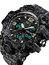 Недорогие -SKMEI Муж. Для пары Армейские часы электронные часы Морские часы с печатью Цифровой Стеганная ПУ кожа Черный 50 m Защита от влаги Календарь Секундомер Аналого-цифровые На каждый день Мода -