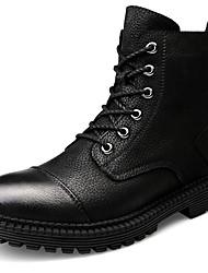 billiga -Herr Fashion Boots Nappaskinn Vinter Ledigt / Brittisk Stövlar Håller värmen Stövletter Svart / Fest / afton
