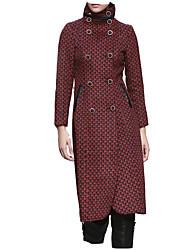 billige -Kvindernes lange frakke - geometriske stativ