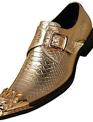 Недорогие -Муж. Официальная обувь Наппа Leather Осень Английский Мокасины и Свитер Нескользкий Золотой / Серебряный / Для вечеринки / ужина / Для вечеринки / ужина / Платья