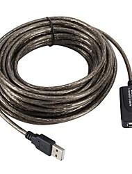 Недорогие -USB 2.0 Удлинитель, USB 2.0 к USB 2.0 Удлинитель Male - Female 20,0 млн (60ft) 2.5 Гб / сек.