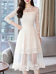billige -Kvinders slanke kappe kjole midi