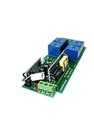 Недорогие -тип обучения 220 В 4-позиционный переключатель дистанционного управления металлический квадрат квадратный 4 кнопки беспроводной пульт дистанционного управления