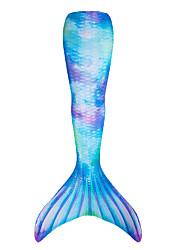 cheap Toys & Hobbies-The Little Mermaid Mermaid Tail Swimwear Girls' Kids Children's Day New Year Festival / Holiday Polyster Outfits Blue+Green / Fuchsia / Purple / Blue Mermaid