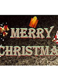 Недорогие -Коврики Рождество 100 г / м2 полиэфирный стреч-трикотаж, Прямоугольная Высшее качество плед