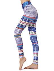baratos -GOSOU≡R Mulheres Cintura elástica Calças de Yoga - Arco-íris Esportes Estampado Cintura Alta Meia-calça Pilates, Dança, Corrida Roupas Esportivas Respirável, Secagem Rápida, Compressão abdominal