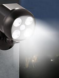 Недорогие -BRELONG® 1шт 6 W LED прожекторы Водонепроницаемый / Управление освещением / Монитор обнаружения движения Белый 3.7 V Уличное освещение / Бассейн / двор 4 Светодиодные бусины