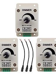Недорогие -ZDM® 1шт Аксессуары для ламп / Газонокосилка / с разъемом постоянного тока Пластиковые & Металл Переключатель светорегулятора для светодиодной полосы света 100 W