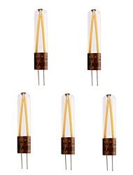 Недорогие -5 шт. 2 W Двухштырьковые LED лампы 200 lm G4 T 2 Светодиодные бусины COB Декоративная Тёплый белый Холодный белый 220-240 V / RoHs
