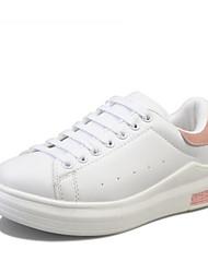 abordables -Femme Chaussures de confort Polyuréthane Automne Ballerines Talon Plat Rose et blanc / Noir / blanc / Blanc et vert