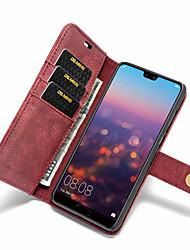 Недорогие -Кейс для Назначение Huawei P20 Pro / P20 lite Бумажник для карт / Защита от удара / Флип Чехол Однотонный Твердый Кожа PU для Huawei P20 / Huawei P20 Pro / Huawei P20 lite