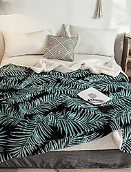 Недорогие -Фланель, Активный краситель Геометрический принт Хлопок / полиэфир одеяла
