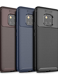 رخيصةأون -غطاء من أجل Huawei Huawei Mate 20 Pro / Huawei Mate 20 مطرز غطاء خلفي لون سادة ناعم TPU إلى Mate 10 / Mate 10 pro / Mate 10 lite