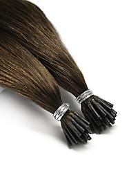 Недорогие -Neitsi Fusion / с I-образным кончиком Расширения человеческих волос Прямой Черный Коричневый Накладки из натуральных волос Натуральные волосы Бразильские волосы 25 шт. Для вечеринок Жен. -