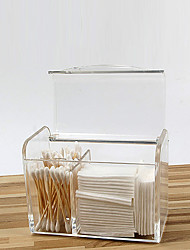 Недорогие -Место хранения организация Косметологический макияж Акрил Прямоугольная форма Защита от пыли / Открытая крышка