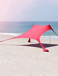 Недорогие -4 человека на открытом воздухе Палатка с экраном от солнца Тент для пляжа Дожденепроницаемый Быстровысыхающий Пригодно для носки Устойчивость к УФ Карниза Однослойный 2000-3000 mm Палатка для