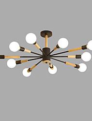 Недорогие -10-Light Спутник Люстры и лампы Рассеянное освещение Окрашенные отделки Металл Дерево / бамбук Творчество 110-120Вольт / 220-240Вольт Лампочки не включены / SAA