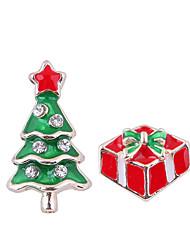 abordables -Femme Incompatibilité Boucles d'oreille goujon - Arbre de Noël Européen, Mode, Le style mignon Rouge Pour Noël Quotidien