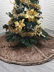 abordables -Décorations de Noël Thème floral / Vacances / Arbre de Noël Textile / Molleton Circulaire Soirée Décoration de Noël
