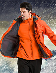 Недорогие -Муж. Куртки 3-в-1 на открытом воздухе Осень Весна Зима С защитой от ветра Дожденепроницаемый Воздухопроницаемость Пригодно для носки Чинлон Зимняя куртка Односторонняя