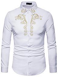 Недорогие -Муж. Рубашка Деловые Графика