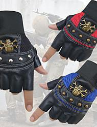 Недорогие -Спортивные перчатки Перчатки для велосипедистов Дышащий / Противозаносный / Пригодно для носки Без пальцев Кожа PU / Лайкра спандекс Шоссейные велосипеды / Велосипедный спорт / Велоспорт Муж. / Жен.