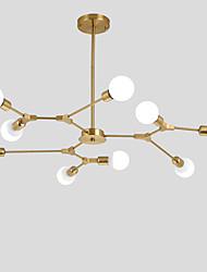 Недорогие -гальваническая северная европейская люстра 9-голова современные металлические молекулы подвесные светильники гостиная столовая спальня