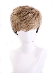 Недорогие -Парики из искусственных волос Естественный прямой Стиль Ассиметричная стрижка Без шапочки-основы Парик Коричневый Черный / коричневый Искусственные волосы 22 дюймовый Жен. Для вечеринок Коричневый