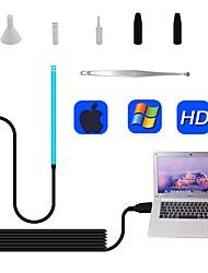 Недорогие -Визуальная ушная ложка HD эндоскоп без нагрева Синий очиститель для ушей компьютерная версия