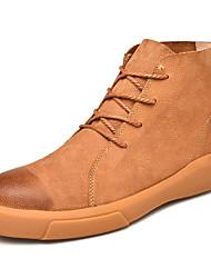 billiga -Herr Fashion Boots Läder Vinter Ledigt Stövlar Håller värmen Korta stövlar / ankelstövlar Svart / Brun